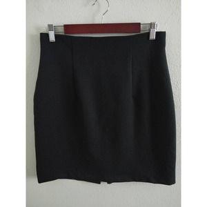 Vintage Black Pencil Skirt L